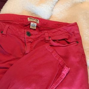 Coral colored jeans size 11